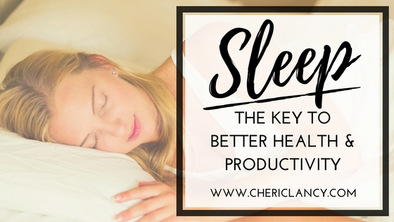 Sleep The Key to Better Health Productivity
